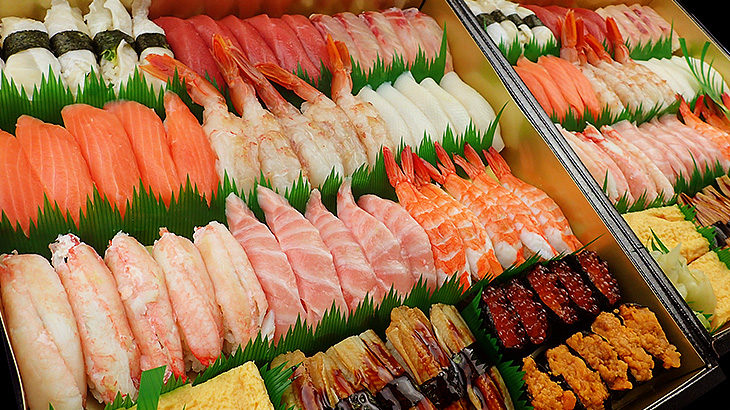 お寿司の出前は、東京23区内全域お届けできます!